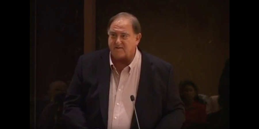 FBI mole Stefan Halper during Obama administration. Photo credit to The Intercept Photo: YouTube.