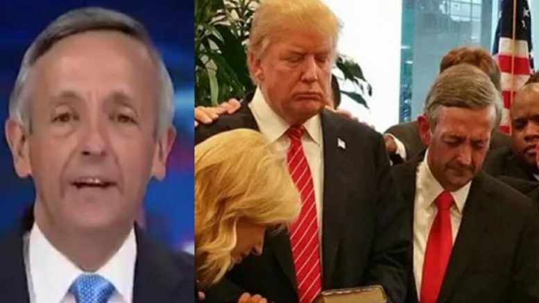 Pastor Jeffress speaks out on the Supreme Court Justices and how it relates to the Evangelical voters and the 2018 Midterms. Photo credit to US4Trump compilation with FOX Screen Grab, Deeper Truth.