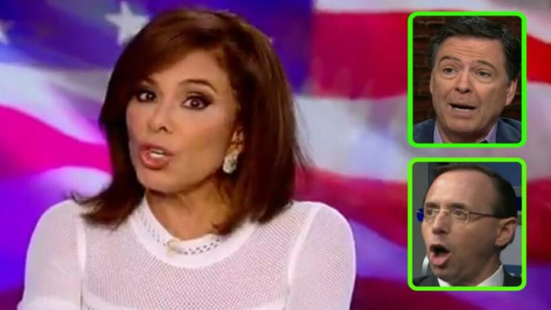 Tom Fitton joined Judge Pirro and discussed the FISA court process. Photo credit to US4Trump enhanced compilation with screen grabs.