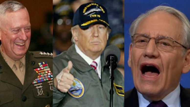 Bob Woodard's anti-Trump book is riddled with untruths. Photo credit to US4Trump compilation with Steve Helber, U.S. Marine Corps, Screen Shot.