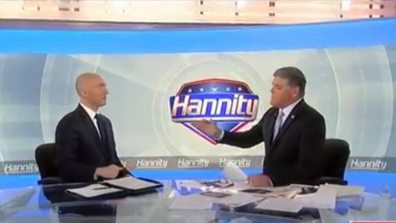 Carter Page speaks out on the Sean Hannity Show. Photo credit to US4Trump screen capture.