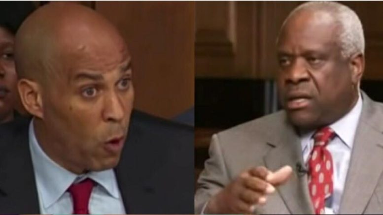 Justice Clarence Thomas spoke out on confirmation hearing. Photo credit to US4Trump compilation with C-SPAN Screen Grabs.