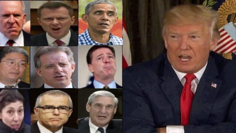 President Trump announced next step in FISA document release. Photo credit to US4Trump compilation with screen grabs.