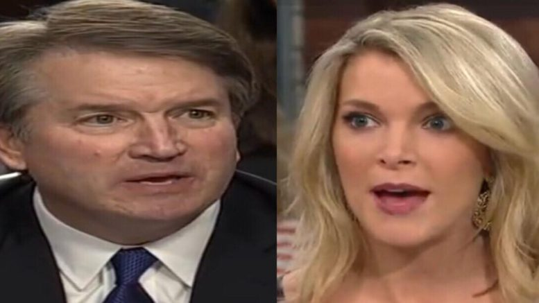 Megyn Kelly defended Kavanaugh again. Photo credit to US4Trump compilation with video screen shots.