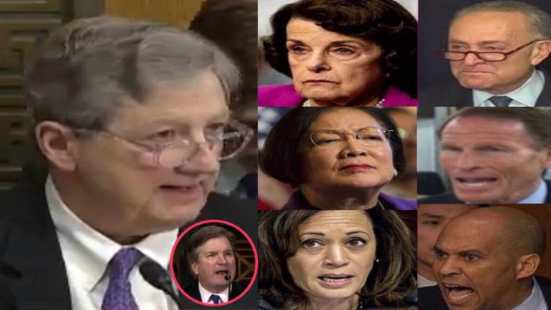 Committee voted to send the Kavanaugh confirmation to the Senate floor for a full vote. Photo credit to US4Trump compilation with screen grabs.