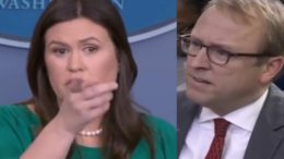 Sarah slays ABC's reporter after he tried to blame Trump for massacre. Photo credit to US4Trump compilation with video screen shots.