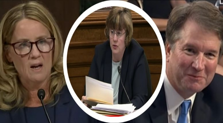 Abuse specialist, Rachel Mitchell writes memo to Judiciary Committee on her analysis of Kavanaugh vs. Ford SCOTUS nomination hearing. Photo credit to US4Trump compilation with screen shots.