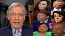McConnell talked about the Republican battle plan on the road to the Kavanaugh confirmation. Photo credit to US4Trump compilation with screen shots.