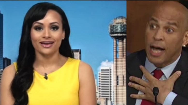 Katrina Pierson nails Cory Booker on his hypocrisy. Photo credit to US4Trump compilation with screen shots.