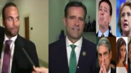 The Mueller witch hunt looks less credible after Ratcliffe interviews Papadopoulos. Photo credit to US4Trump with screen shots.