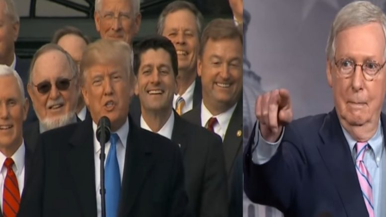 Mitch McConnell is having the time of his life! Photo credit to US4Trump compilation with screen shots.