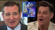 Jim Carrey attacks Ted Cruz on Twitter days before midterm election. Photo credit to US4Trump compilation with screen shots.