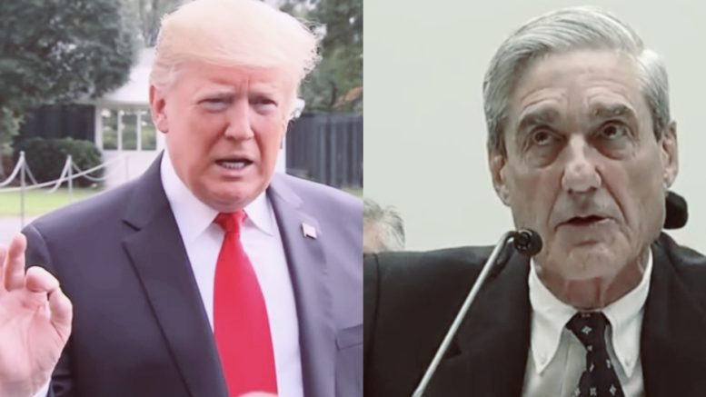 President Trump talks Mueller probe scandal. Photo credit to US4Trump with screen grabs.