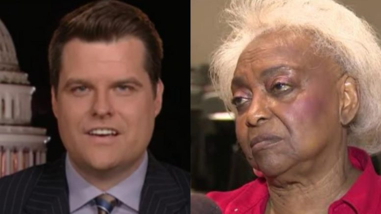 Gaetz speaks out on Florida midterm. Photo credit to US4Trump compilation with screen shots.