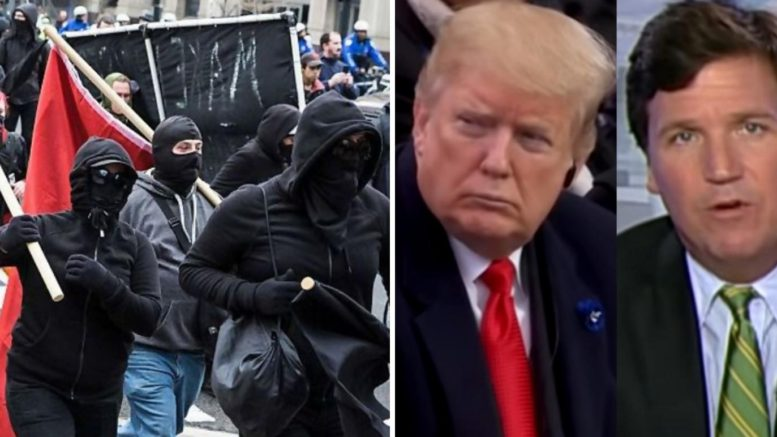 Trump has message to Antifa organizers. Photo credit to US4Trump compilation with Tennessee Star, Screen Grabs.
