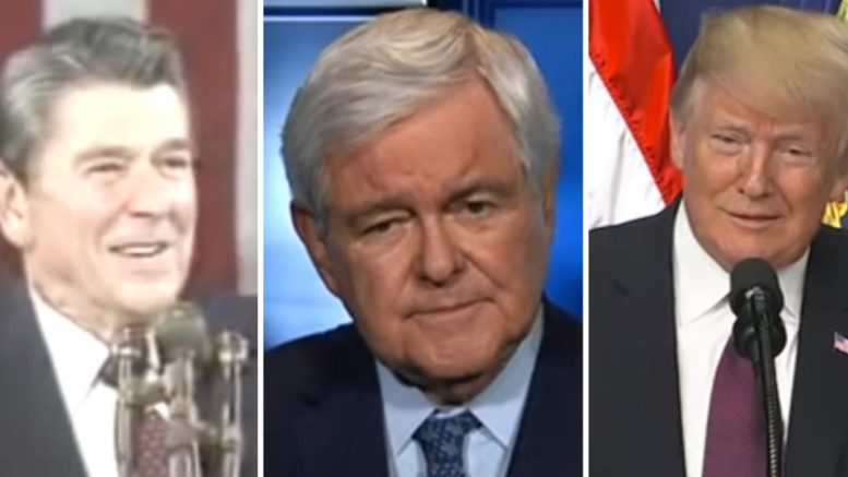 Newt Gingrich schools the leftist media on 2020 election. Photo credit to US4Trump compilation with screen shots.