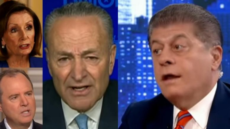 Judge Napolitano revealed how Dems will use their power against President Trump. Photo credit to US4Trump compilation with Fox screen shots.