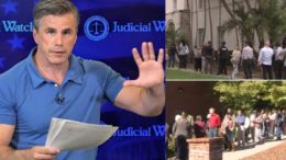 Tom Fitton research how many illegals voted in Clinton and Florida elections based on case study. Stunning results. Photo credit to US4Trump compilation with Twitter Screen Shot, PBS Screen Shot, Misc Screen Shot.