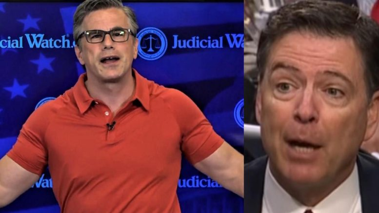 Tom Fitton rats out Comey on his hypocrisy. Photo credit to US4Trump compilation with screen shots.