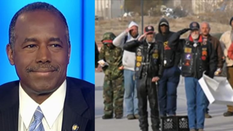 HUD Secretary Ben Carson announces good news on housing America's veterans. Photo credit to US4Trump compilation with Screen Shot, Sante Fe Reporter.