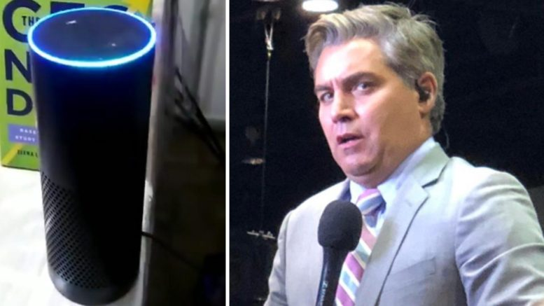 Amazon Alexa has hilarious response to question about Jim Acosta. Photo credit to US4Trump compilation with Twitter Screen Shot, InfoWars.