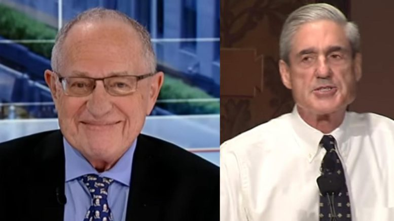 Dershowitz proves why his statement was so very true. The irony! Photo credit to US4Trump with screen grabs.