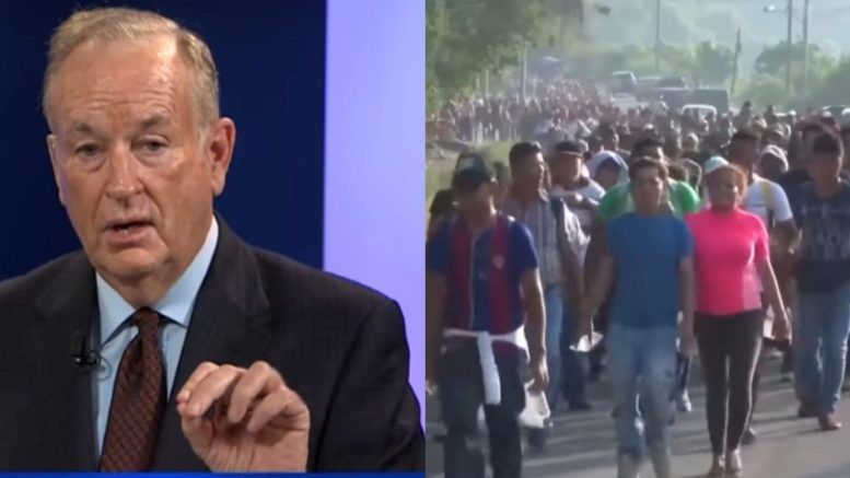 Bill O'Reilly speaks out on 2018 illegal immigration migration. Photo credit to US4Trump compilation with screen shots.