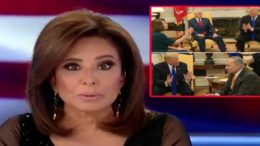 Judge Pirro dedicates her opening statement to the President of the United States. Photo credit to US4Trump compilation with screen shots.