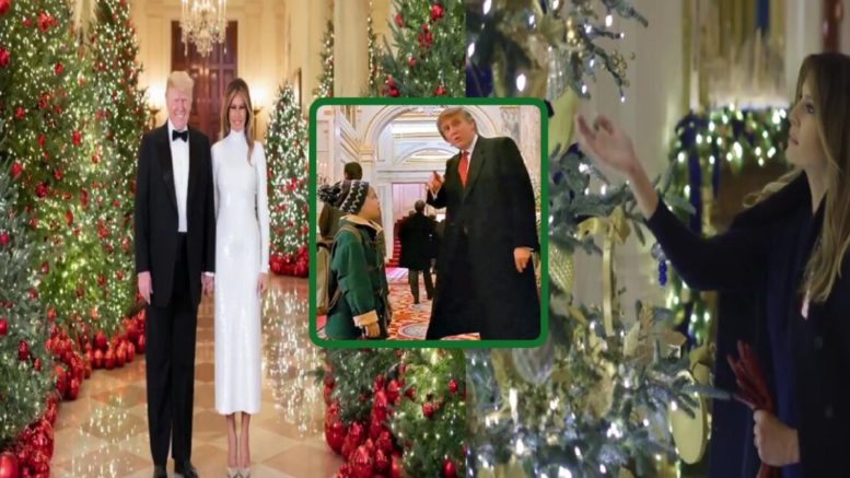 FLOTUS and POUTS celebrate the Christmas season. Photo credit to US4Trump compilation with Screenshots and Home Alone Wiki- Fandom.