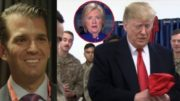 Donald Trump Jr. points to the irony of the leftist media attacking our troops for standing with their Commander-In-Chief. Photo credit to US4Trump compilation with screen shots.