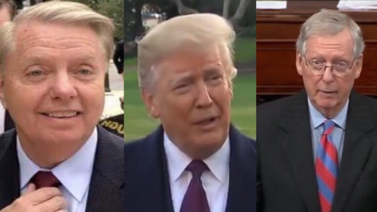 Lindsey Graham and President Trump see eye to eye on criminal justice reform. Photo credit to US4Trump compilation with screen shots.