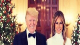 POTUS and FLOTUS and the Official White House Christmas portrait. Photo credit to US4Trump compilation with screen shot.