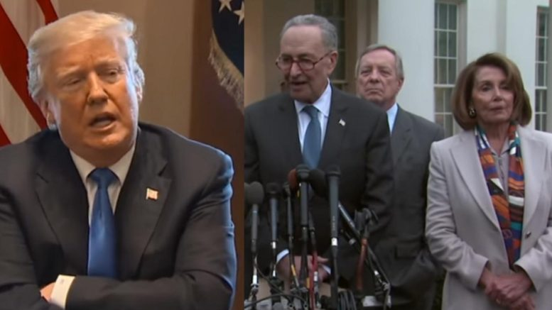 President Trump exposes the Democrats political games at the expense of America's safety. Photo credit to US4Trump compilation with screen shots.